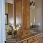 Bathroom - Double vanity and linen cabinet - Anthony Thomas Builders