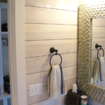 Bathroom with shiplap wall - Anthony Thomas Builders