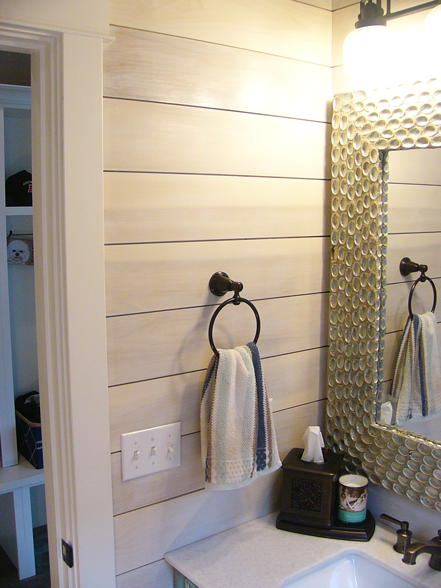 Bathroom with shiplap wall – Anthony Thomas Builders
