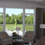 Great Room with picture window with double crown modling - Anthony Thomas Builders