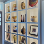 Foyer - Art pocket shelves with back lighting wall - Anthony Thomas Builders