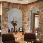 Great Room - Stone columns and arches - Anthony Thomas Builders