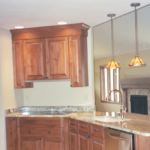 Kitchen with pendant lighting - Anthony Thomas Builders