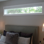 Master bedroom with transom window - Anthony Thomas Builders