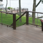 2 Story lake home deck with cable railing- Anthony Thomas Builders