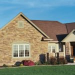 Exterior Ranch, Gable and Stone Front Columns - Anthony Thomas Builders