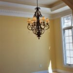 Dining Room with chandelier - Anthony Thomas Builders