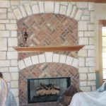 Great Room with stone, brick fireplace - Anthony Thomas Builders