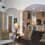 Great Room with columns and arches - Anthony Thomas Builders