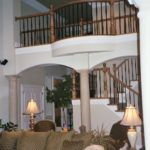 Great Room with balcony and stairs - Anthony Thomas Builders
