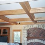 Great Room with coffered ceiling - Anthony Thomas Builders