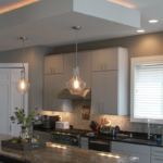 Kitchen with drop ceiling highlight with lighting - Anthony Thomas Builders