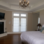 Master Bedroom with crown molding and coffered ceiling - Anthony Thomas Builders