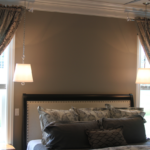 Master bedroom with pendant lighting - Anthony Thomas Builders
