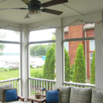 3 Season porch with ceiling fan - Anthony Thomas Builders