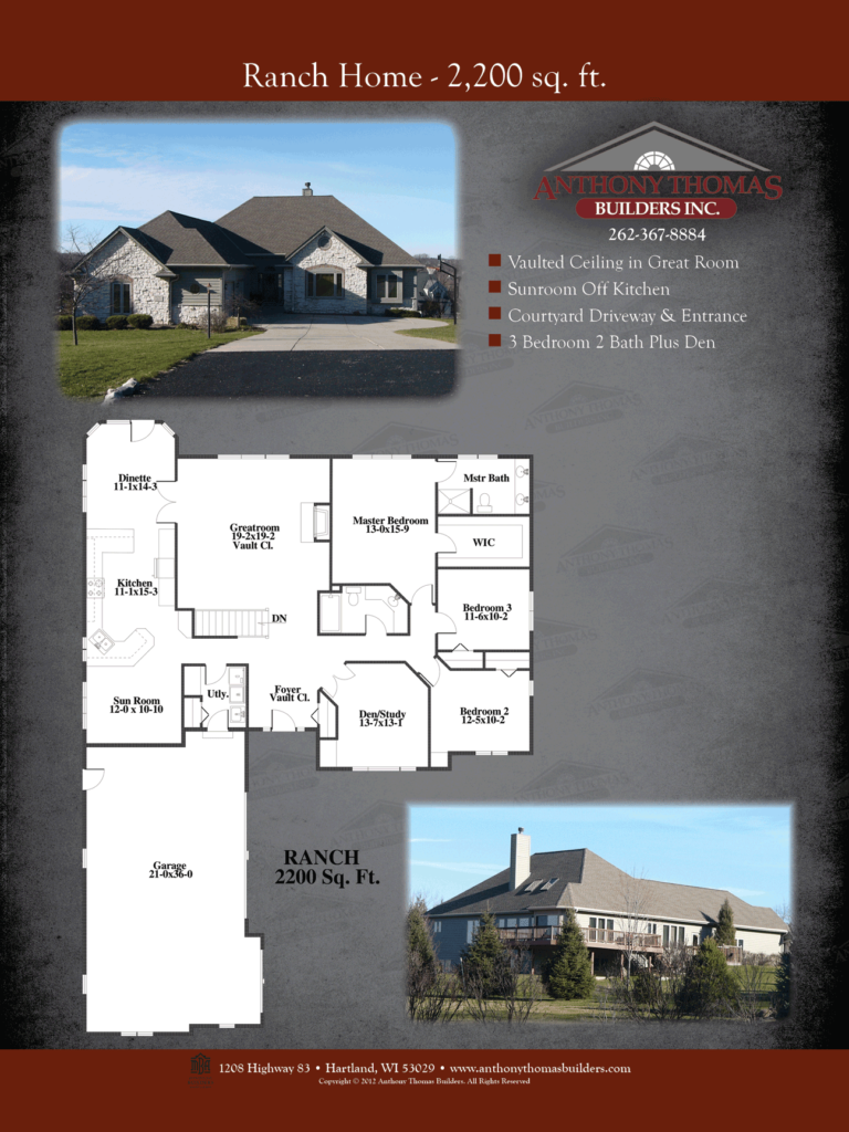 Ranch Home - 2200 sq ft Anthony Thomas Builders