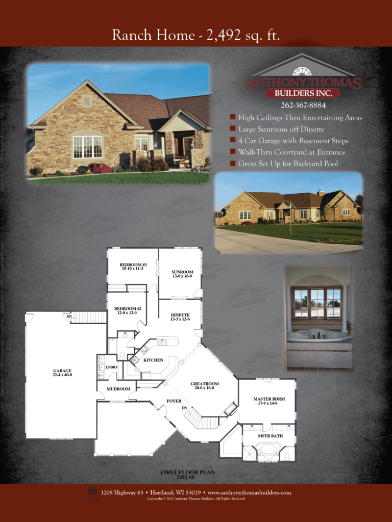 Ranch Home - 2492 sq ft Anthony Thomas Builders