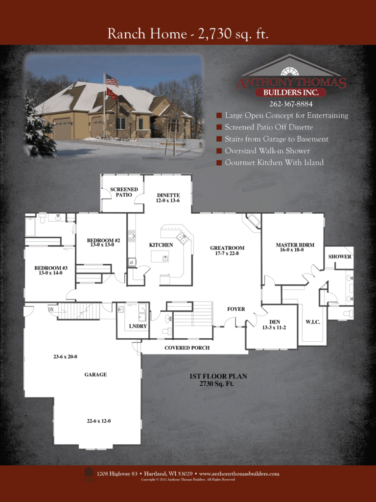 Ranch Home - 2730 sq ft Anthony Thomas Builders