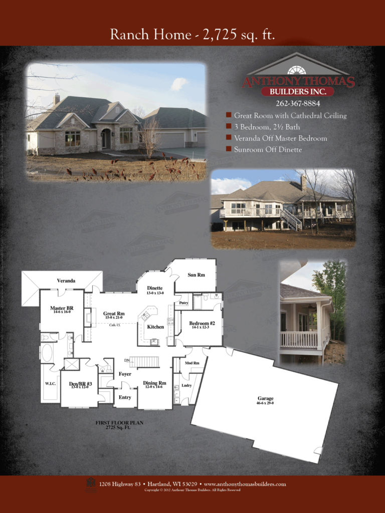 Ranch Home - 2725 sq ft Anthony Thomas Builders