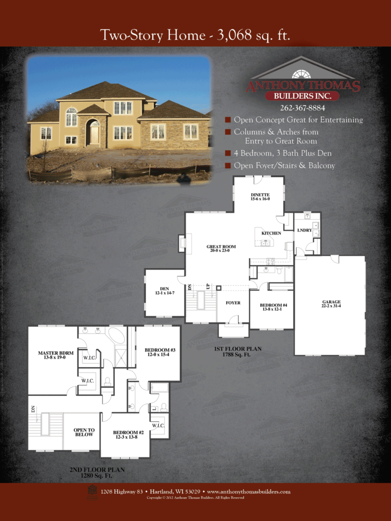 Two Story - 3068 sq ft Anthony Thomas Builders