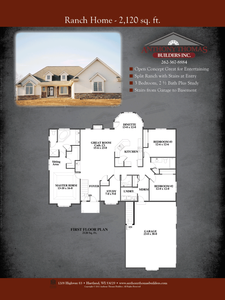 Ranch Home - 2120 sq ft Anthony Thomas Builders