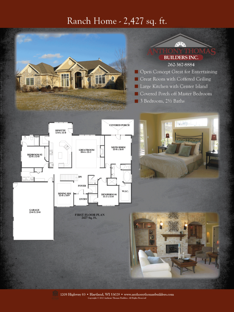 Ranch Home - 2427 sq ft Anthony Thomas Builders