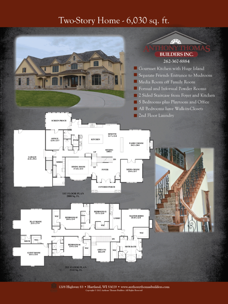 Two Story - 6030 sq ft Anthony Thomas Builders