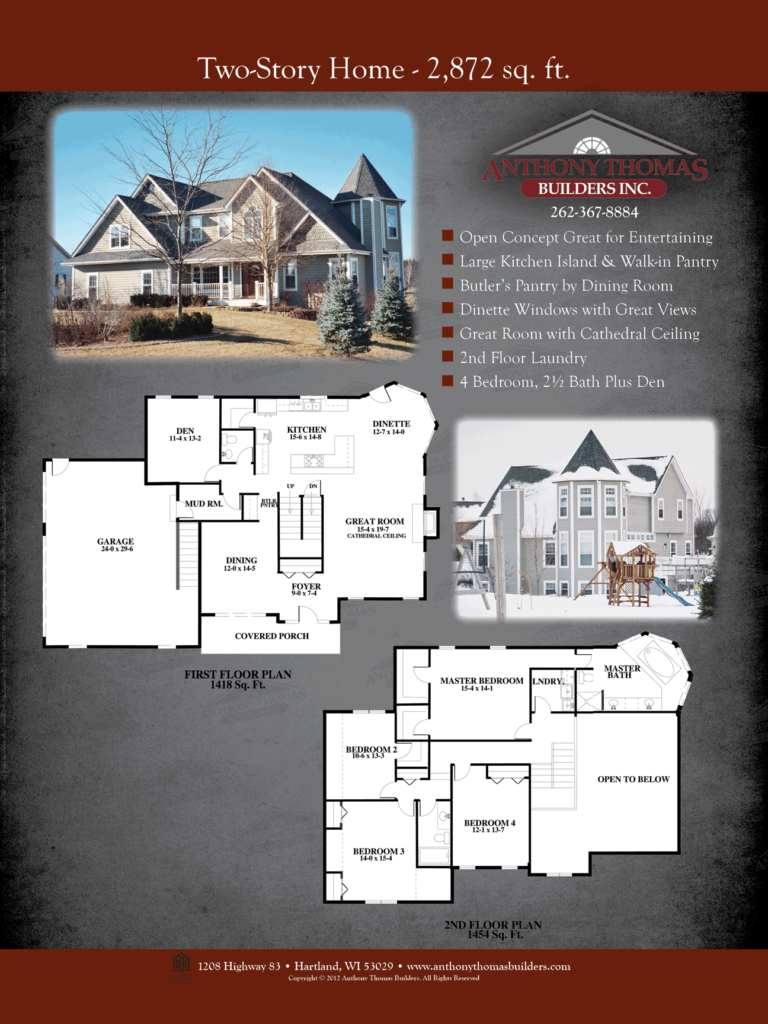 Two Story - 2872 sq ft Anthony Thomas Builders