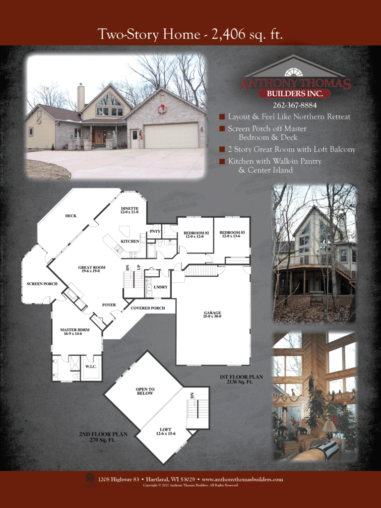 Two Story - 2406 sq ft Anthony Thomas Builders