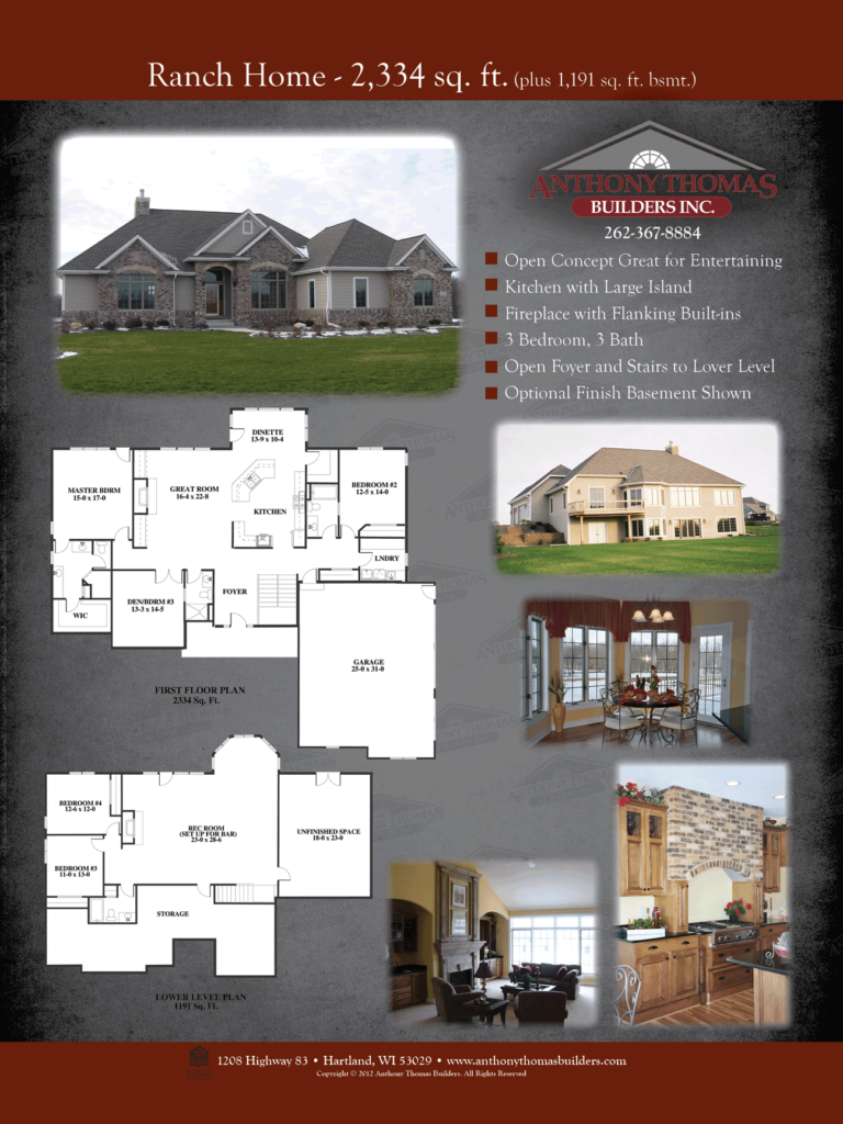 Ranch Home - 2334 sq ft Anthony Thomas Builders
